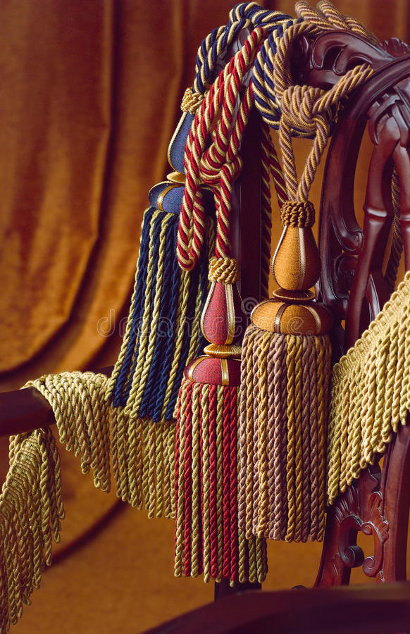 Borlas De La Cortina Foto de archivo libre de regalías