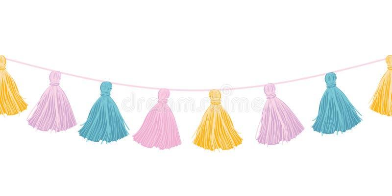 Borlas Decorativas De La Ejecución En Colores Pastel Colorida Del ...