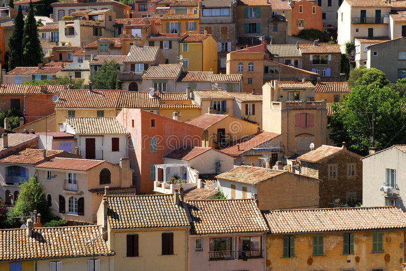 Download Bormes les mimosas village stock photo. Image of roof - 2745916