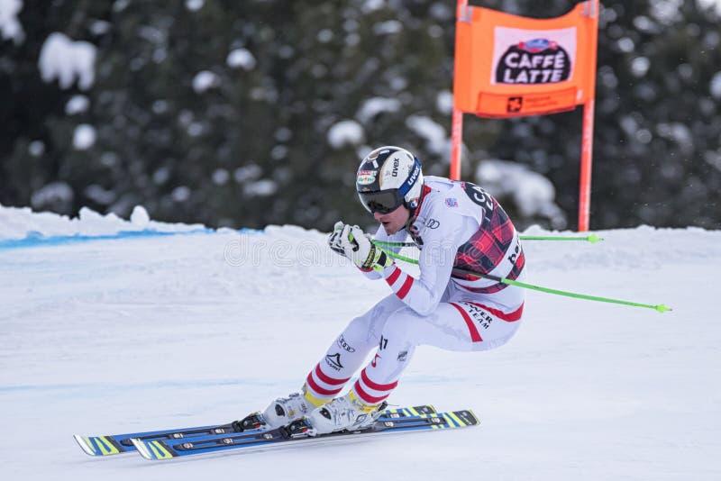 Bormio-freeride Ski fahrender Weltcup 12/28/2017 lizenzfreies stockbild