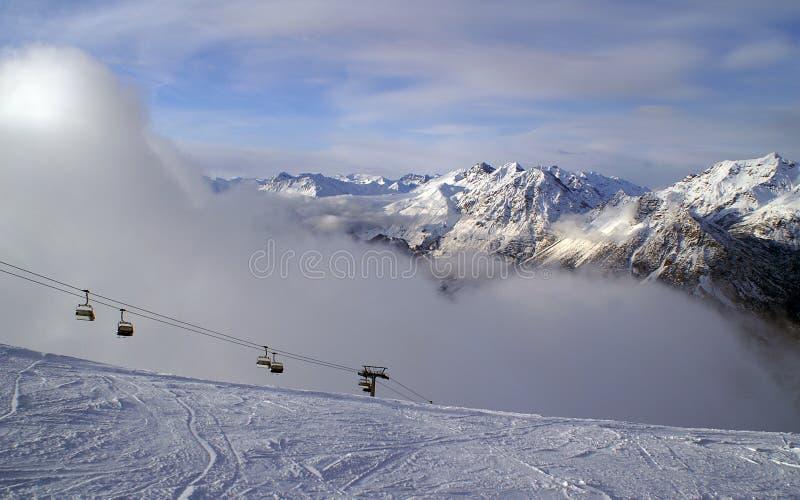 Bormio ski royalty free stock image