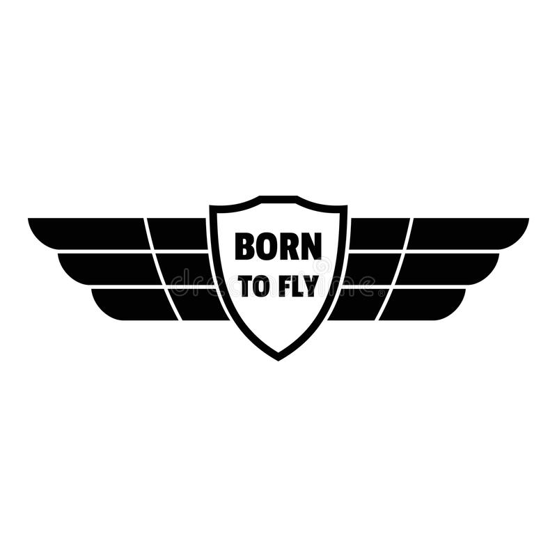 Born to fly wings logo, simple style. Born to fly wings logo. Simple illustration of born to fly wings logo for web design isolated on white background vector illustration