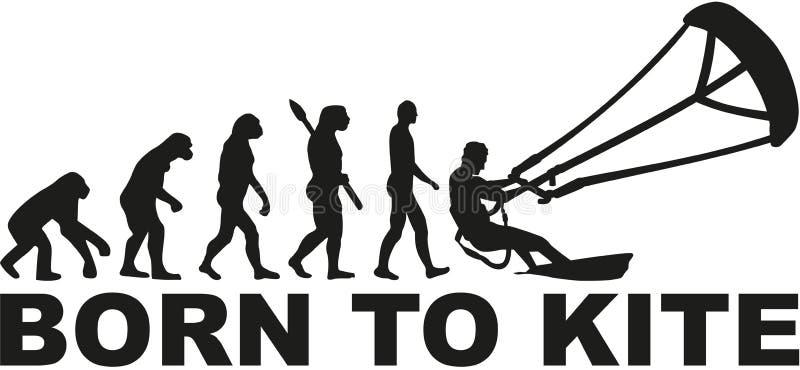 Born to kite evolution vector illustration