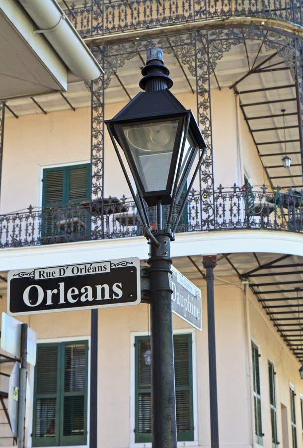 Borne da lâmpada em Orleans e em Dauphine fotos de stock royalty free
