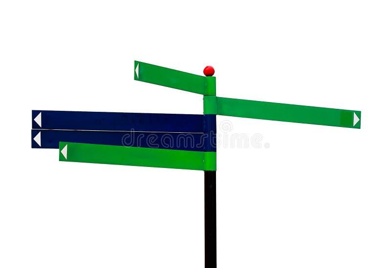 Borne de sinal no fundo branco ilustração stock