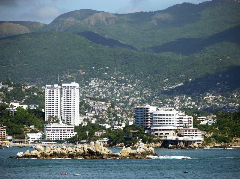 Borne limite d'Acapulco photos libres de droits