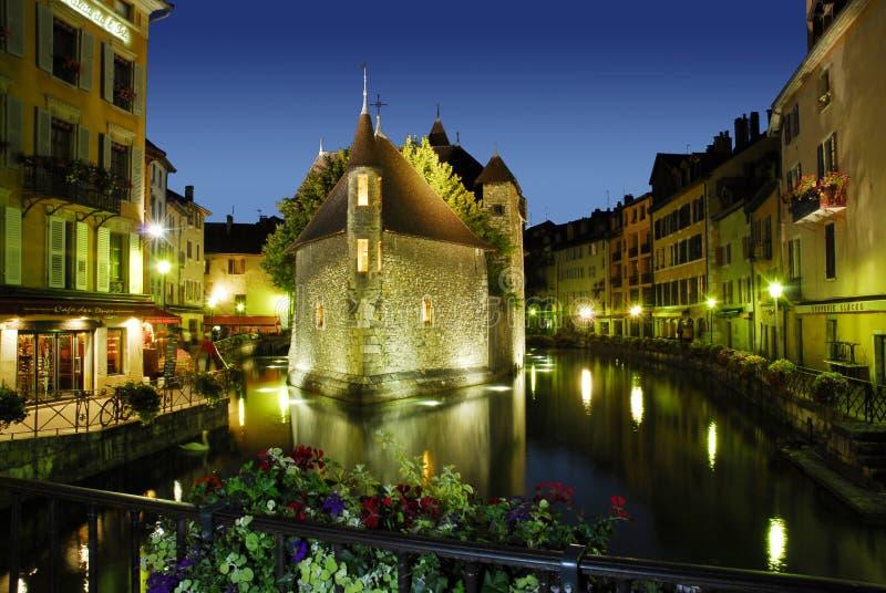 Borne limite d'Annecy photos stock