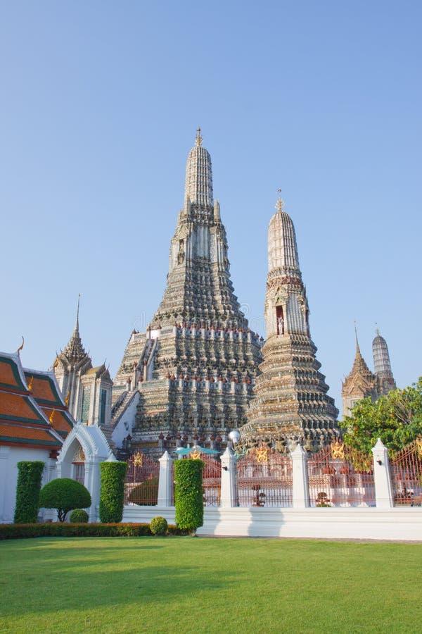 Borne limite d'aroon de Wat de Bangkok Thaïlande photographie stock