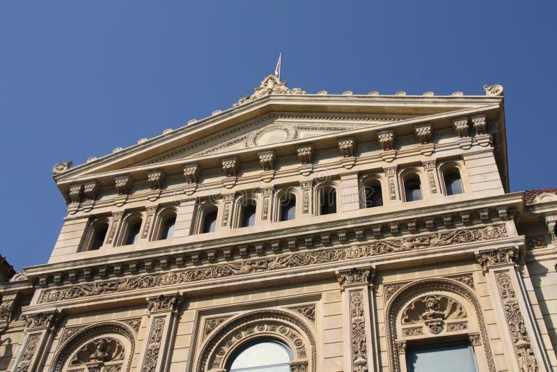 Borne limite de Barcelone photographie stock libre de droits