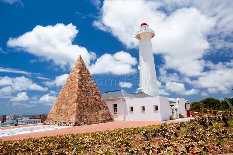 Borne limite de Port Elizabeth image libre de droits