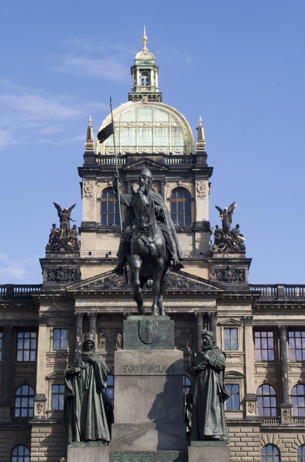 Borne limite de vaclav de saint à Prague image stock