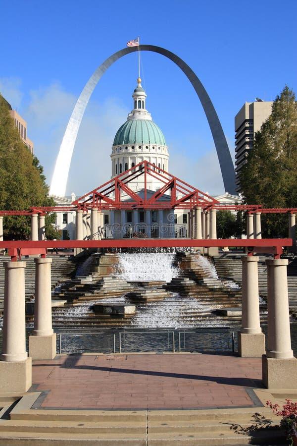 Borne limite de ville de St Louis photographie stock