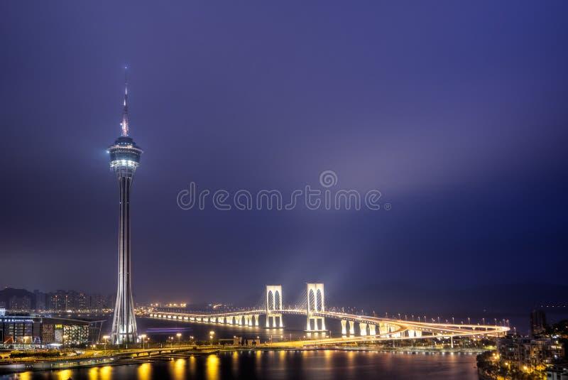 Borne limite du Macao photos libres de droits