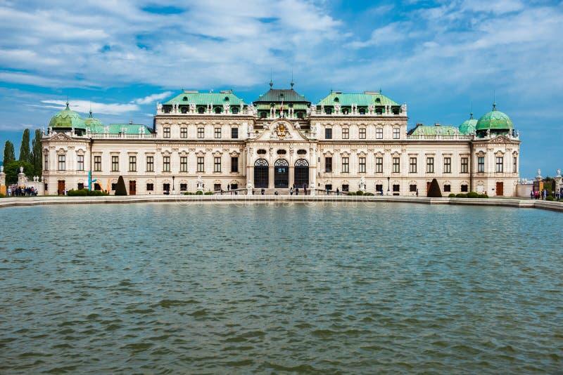 borne limite vieille Vienne de château de belvédère de l'Autriche photos stock
