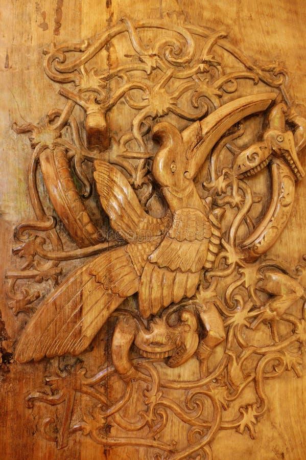 Borneo dzioborożec ptaka plemienna sztuka obrazy stock