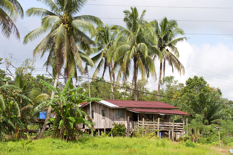 Borneo-Haus lizenzfreie stockfotografie