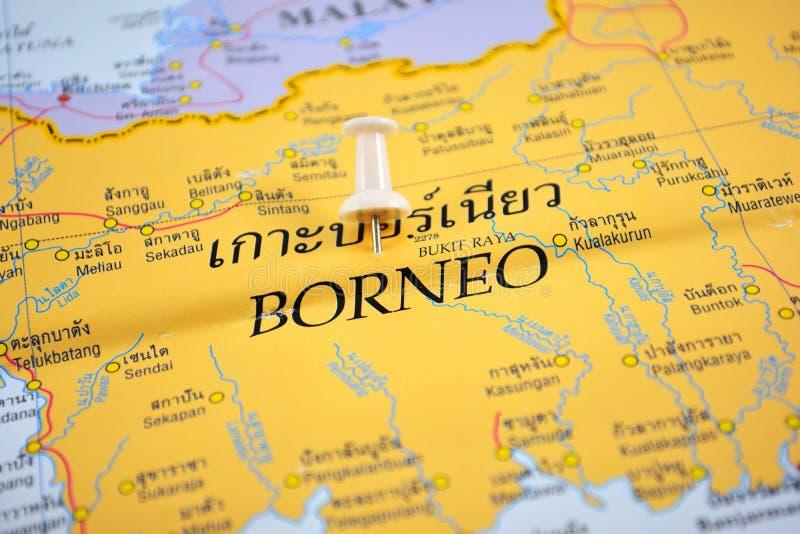 Borneo-Karte lizenzfreies stockfoto