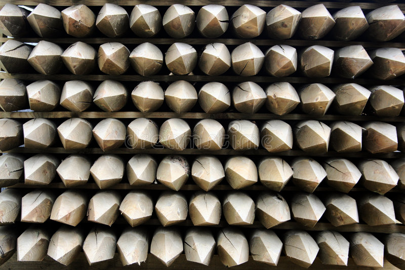 Bornes De Madeira Da Cerca Foto de Stock