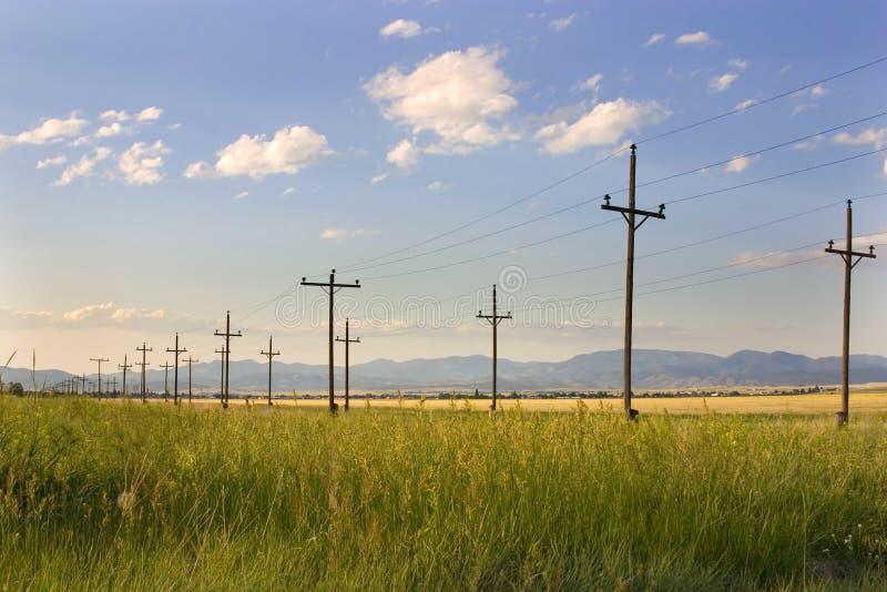 Bornes elétricos em um campo - Helena fotos de stock