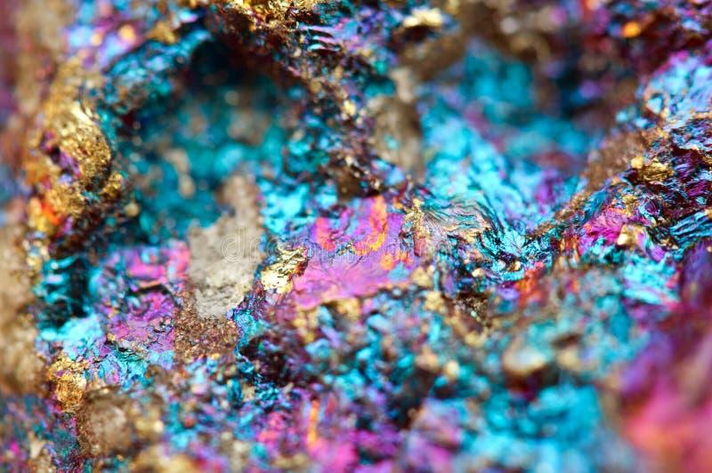 Bornit, także znać jako pawia kruszec, jest sulfide kopaliną obrazy royalty free