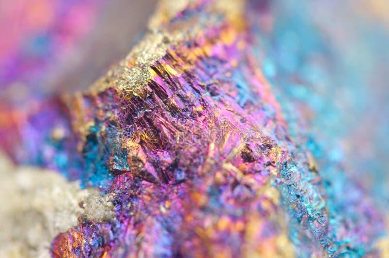 Bornit, także znać jako pawia kruszec, jest sulfide kopaliną obraz stock