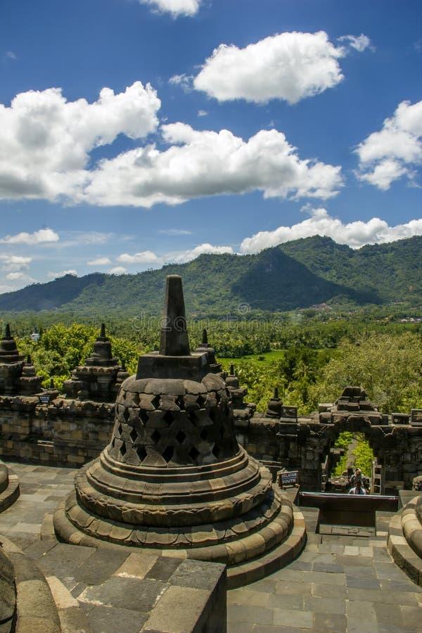 Borobodur - buddhist temple stock photography