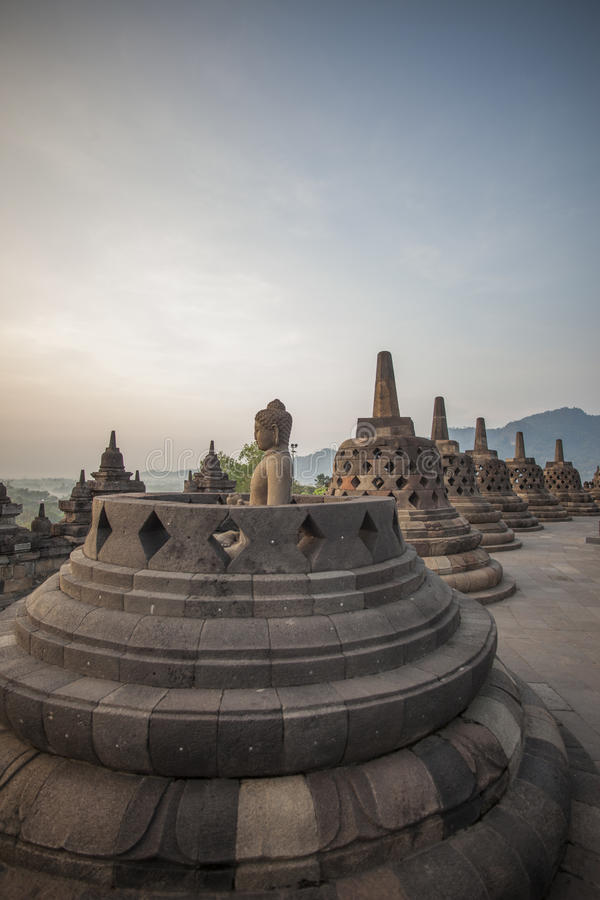 Borobodur temple royalty free stock image