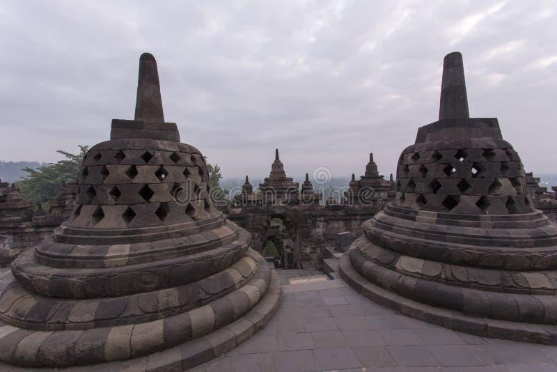 borobudur印度尼西亚寺庙 图库摄影