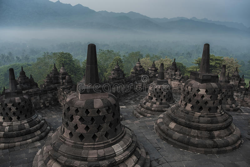 Borobudur świątynia w Jawa fotografia stock