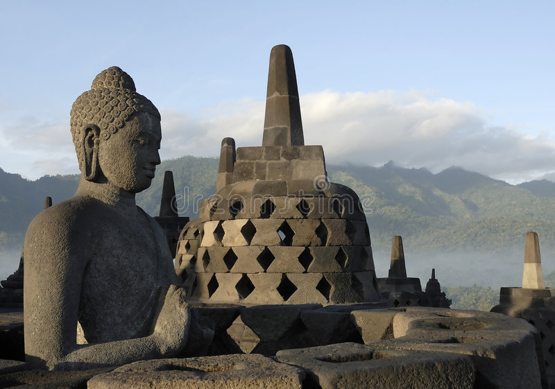 borobudur świątynia Yogyakarta obrazy stock