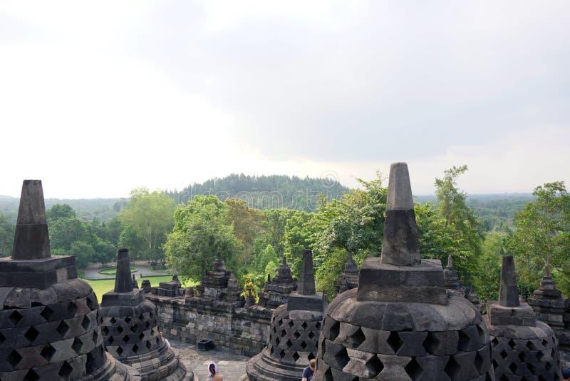 Borobudur ландшафта стоковые изображения