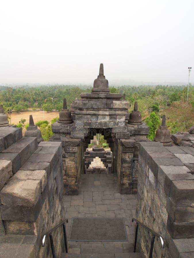 Borobudur в городе Yogyakarta Перемещение в Индонезии 8-ое октября стоковое фото