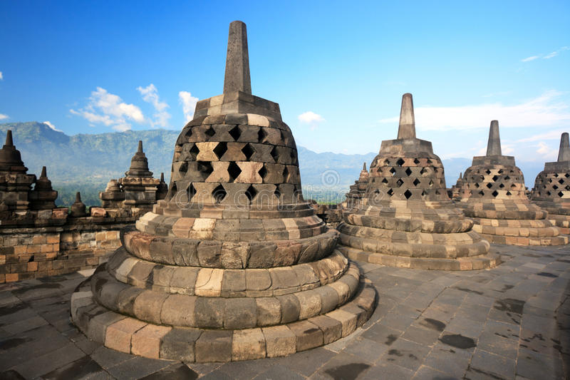 Borobudur fotos de stock royalty free