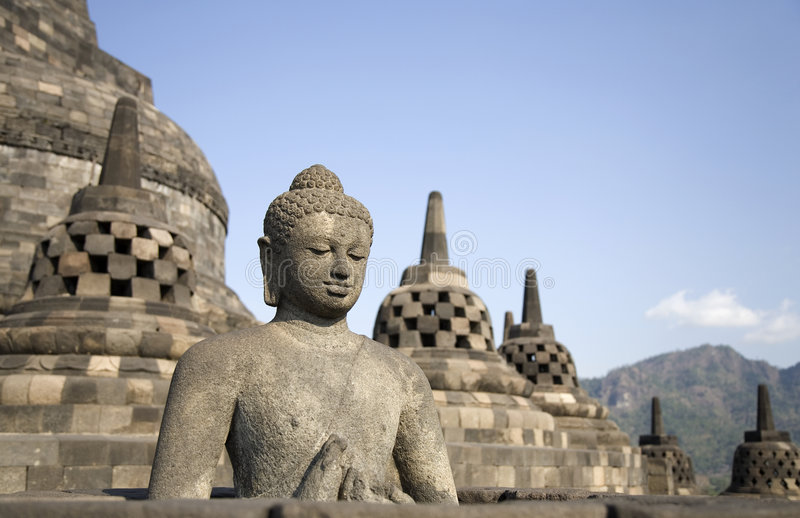 Borobudur 4 foto de stock
