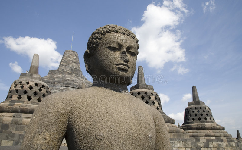 Borobudur 8 lizenzfreie stockbilder