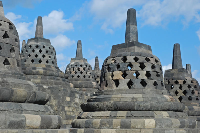 Download Borobudur - Bell-shaped And Perforated Stupa's Stock Image - Image: 25979799