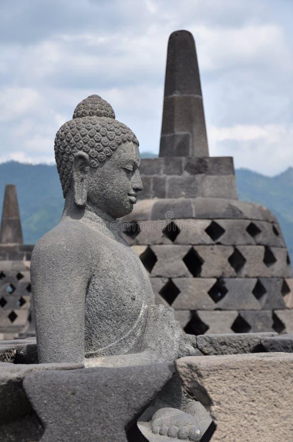 borobudur buddha royaltyfri foto