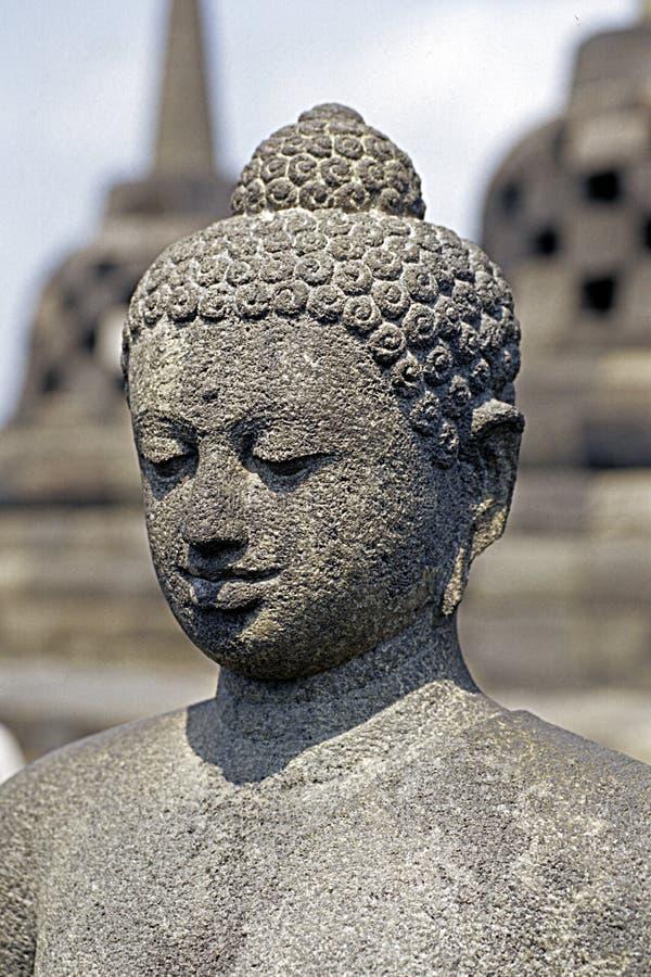 Borobudur_Buddha fotografia stock