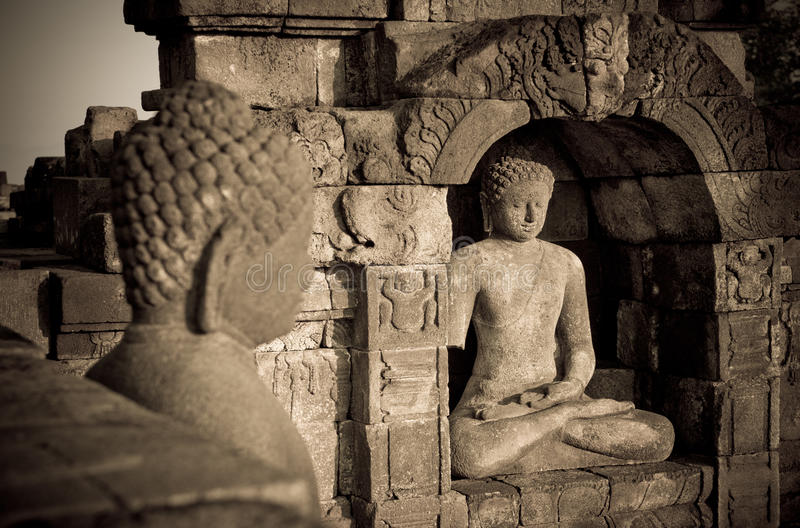 borobudur Buddha Indonesia Java statuy świątynia zdjęcie stock