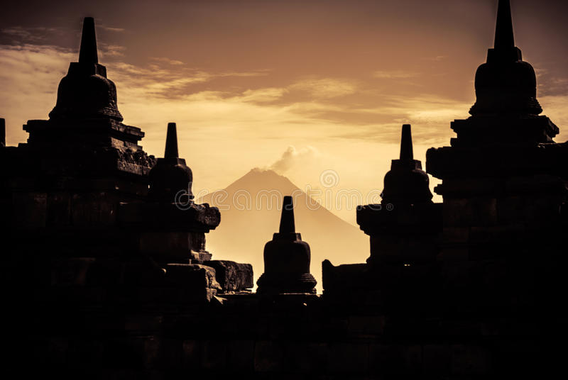 Borobudur Buddhist Temple. UNESCO World Heritage Site - Java, Indonesia royalty free stock image