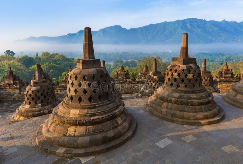 Borobudur Buddist świątynia - wyspa Jawa Indonezja obrazy royalty free