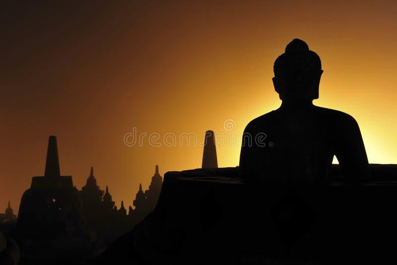 Borobudur di mattina immagine stock libera da diritti