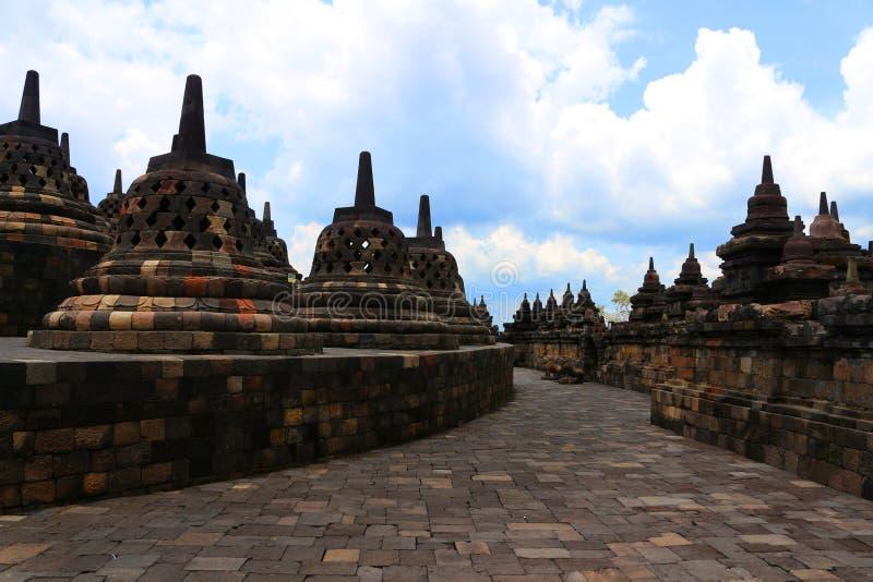 Borobudur em Indonésia fotos de stock royalty free