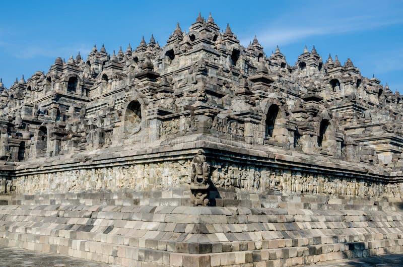 Borobudur em Yogjakarta em Java, Indonésia fotografia de stock