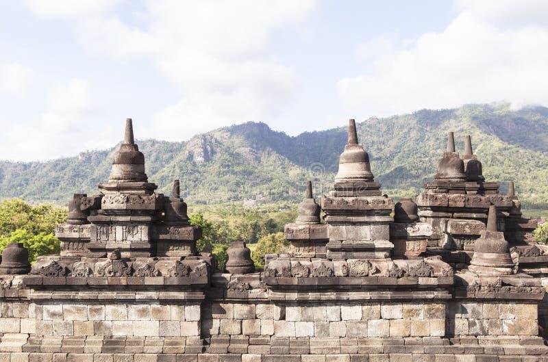 Borobudur Heritage in Yogyakarta, Indonesia. This photo is taken in Yogyakarta, Indonesia. Borobudur, or Barabudur Indonesian: Candi Borobudur is a 9th-century royalty free stock image
