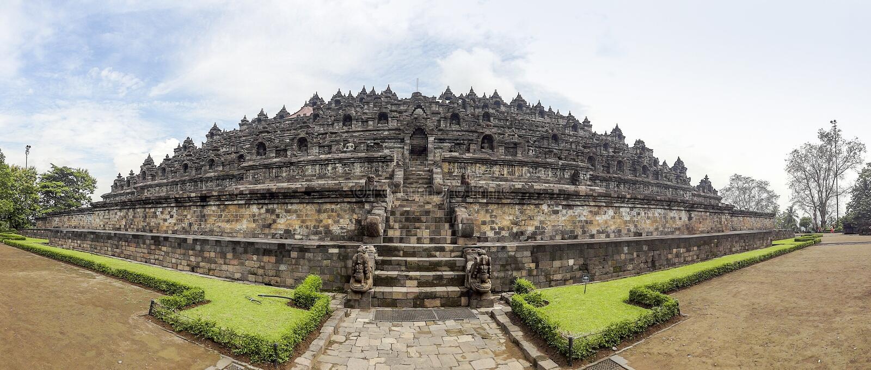 Borobudur i Java royaltyfria foton