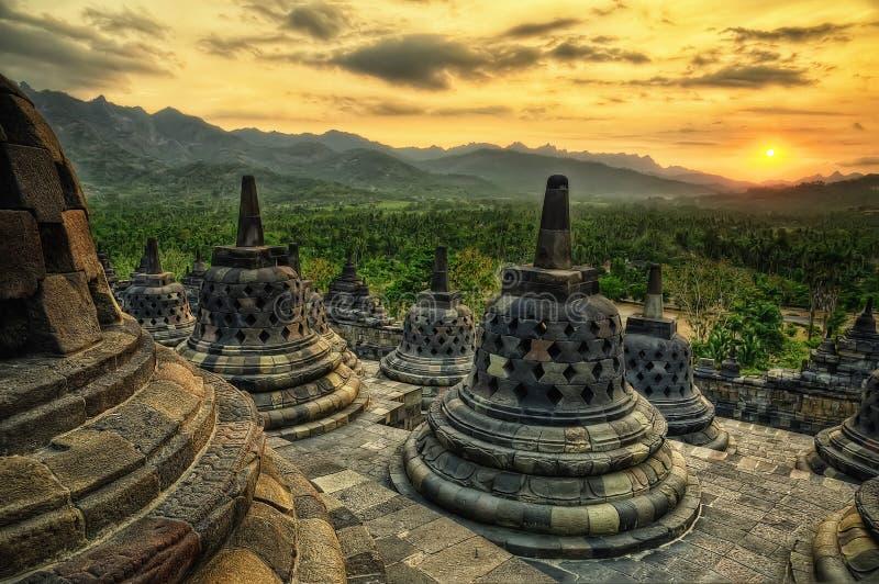 borobudur indonesia royaltyfri bild