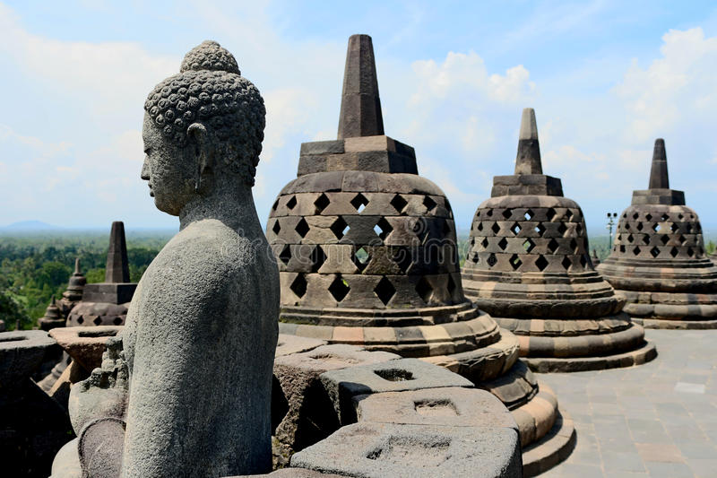 Borobudur in Indonesia immagine stock