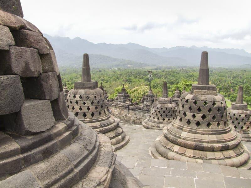 Borobudur in Java immagine stock libera da diritti