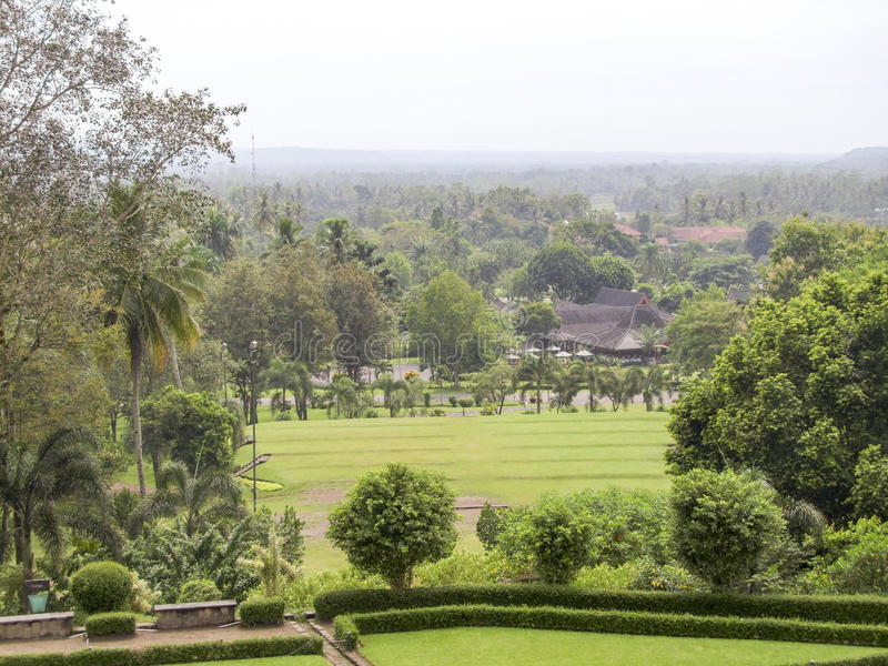 Borobudur in Java fotografie stock